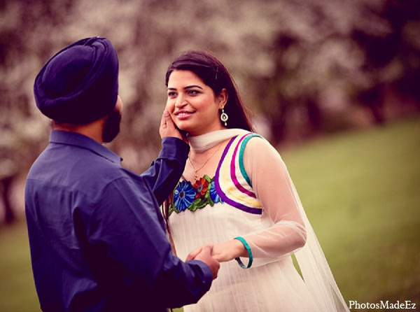 Indian engagement bride groom wedding in Sunday Sweetheart Winners ~ Pooja & Jassi by PhotosMadeEz