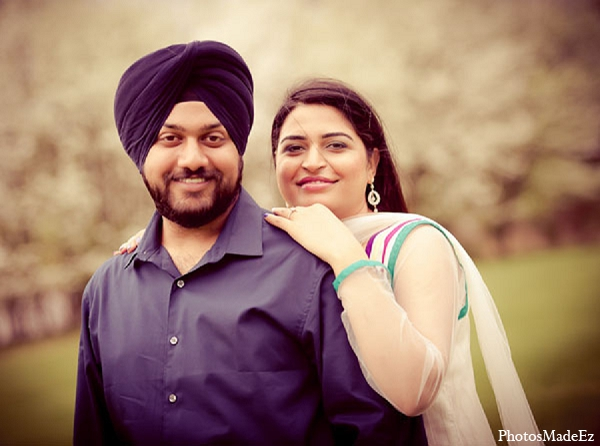 Indian engagement portrait groom bride wedding in Sunday Sweetheart Winners ~ Pooja & Jassi by PhotosMadeEz