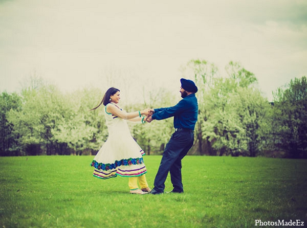 Indian engagement wedding bride groom in Sunday Sweetheart Winners ~ Pooja & Jassi by PhotosMadeEz