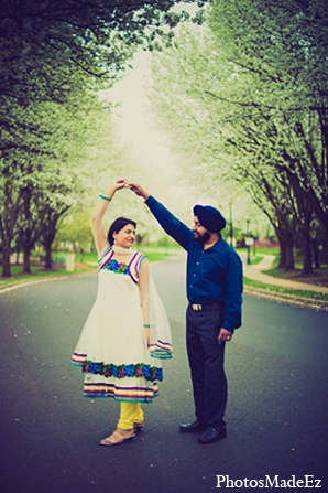 Indian groom bride engagement photography in Sunday Sweetheart Winners ~ Pooja & Jassi by PhotosMadeEz