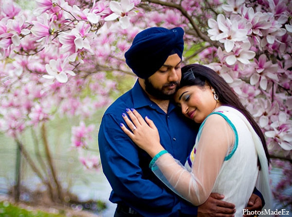 Indian wedding engagement photoshoot groom bride in Sunday Sweetheart Winners ~ Pooja & Jassi by PhotosMadeEz