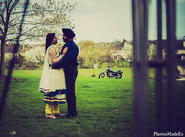 Indian wedding photography engagement bride groom in Sunday Sweetheart Winners ~ Pooja & Jassi by PhotosMadeEz