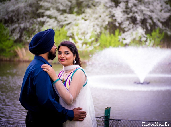 Indian wedding portrait engagement groom bride in Sunday Sweetheart Winners ~ Pooja & Jassi by PhotosMadeEz