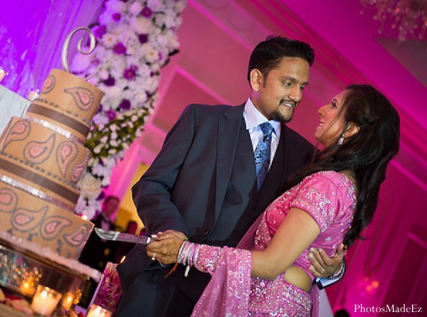 Indian wedding cake reception in Drexel Hill, PA Indian Wedding by PhotosMadeEz