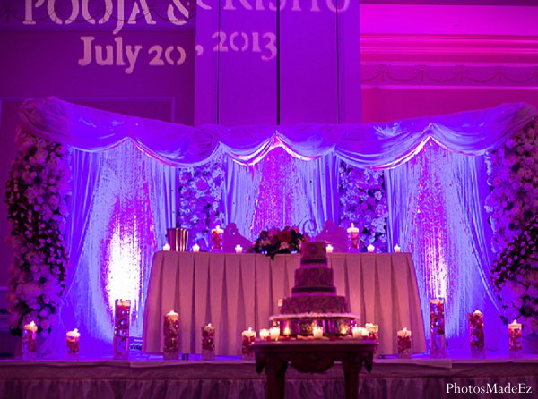 Indian wedding decor reception in Drexel Hill, PA Indian Wedding by PhotosMadeEz