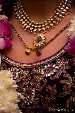 Indian wedding jewels bride in Drexel Hill, PA Indian Wedding by PhotosMadeEz