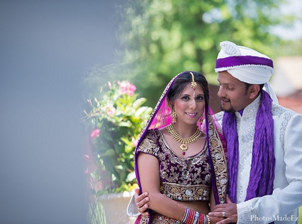Indian wedding photography first look in Drexel Hill, PA Indian Wedding by PhotosMadeEz