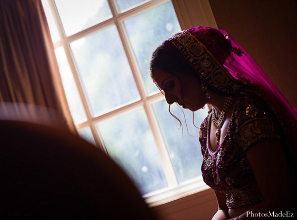 Indian wedding portrait getting ready in Drexel Hill, PA Indian Wedding by PhotosMadeEz
