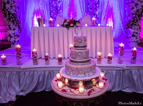 Indian wedding reception decor cake in Drexel Hill, PA Indian Wedding by PhotosMadeEz