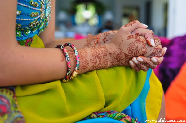 Bridal mehndi in Hanover Parish, Jamaica Indian Wedding by Rafa Ibáñez Photography