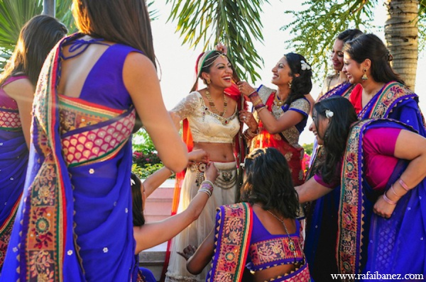 Indian wedding bridal party in Hanover Parish, Jamaica Indian Wedding by Rafa Ibáñez Photography