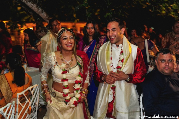 Indian wedding bride choli lehenga in Hanover Parish, Jamaica Indian Wedding by Rafa Ibáñez Photography