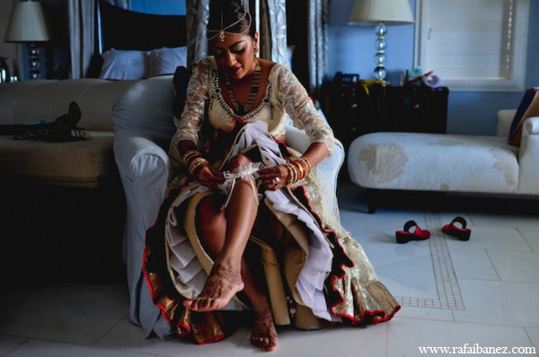 Indian wedding bride lehenga in Hanover Parish, Jamaica Indian Wedding by Rafa Ibáñez Photography