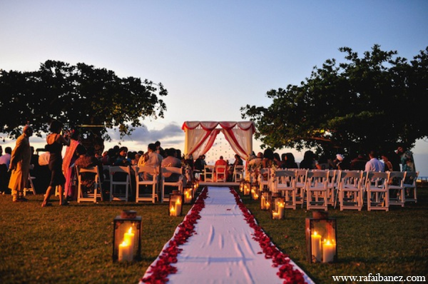 Indian wedding ceremony decor in Hanover Parish, Jamaica Indian Wedding by Rafa Ibáñez Photography