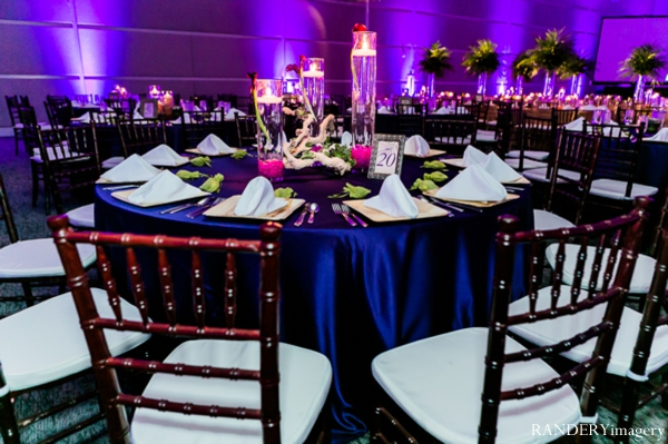 Indian wedding reception lighting table setting decor in Ontario, California Indian Wedding by RANDERYimagery
