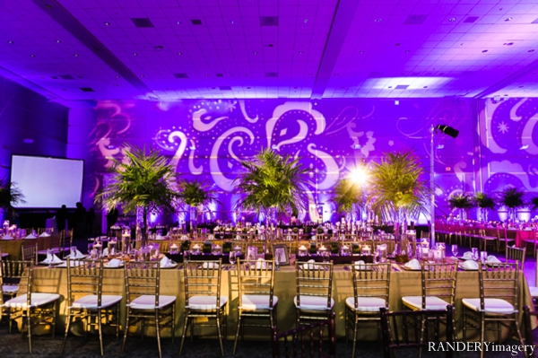 purple,Lighting,Planning & Design,indian wedding reception,indian wedding reception venue,table setting at reception,inspiration for decor at reception,lighting at wedding reception,reception design,RANDERYimagery,reception ideas for lighting and decor,reception table setting inspiration