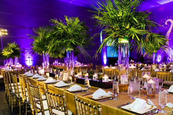 Indian wedding reception decor inspiration lighting in Ontario, California Indian Wedding by RANDERYimagery