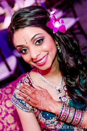 Indian wedding bride reception portrait in Ontario, California Indian Wedding by RANDERYimagery