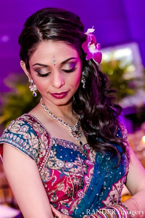 Indian wedding bride reception portrait in Ontario, California Indian Wedding by RANDERYimagery