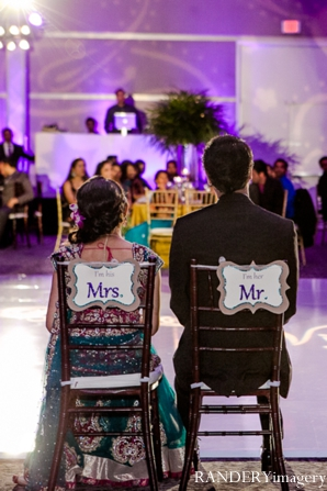 Indian wedding bride groom chairs reception in Ontario, California Indian Wedding by RANDERYimagery