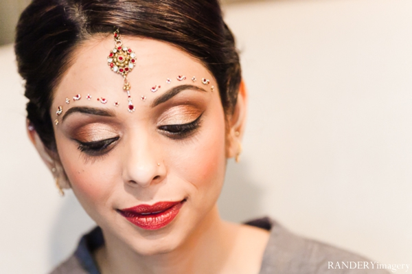 Indian wedding bridal hair and makeup in Ontario, California Indian Wedding by RANDERYimagery