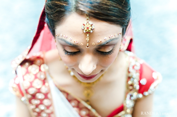 Indian wedding bridal portrait traditional dress in Ontario, California Indian Wedding by RANDERYimagery