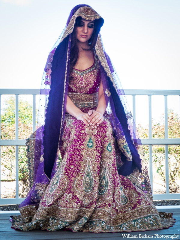 Indian wedding  bridal fashion in Red Paisleys Bridal Fashions Inspiration