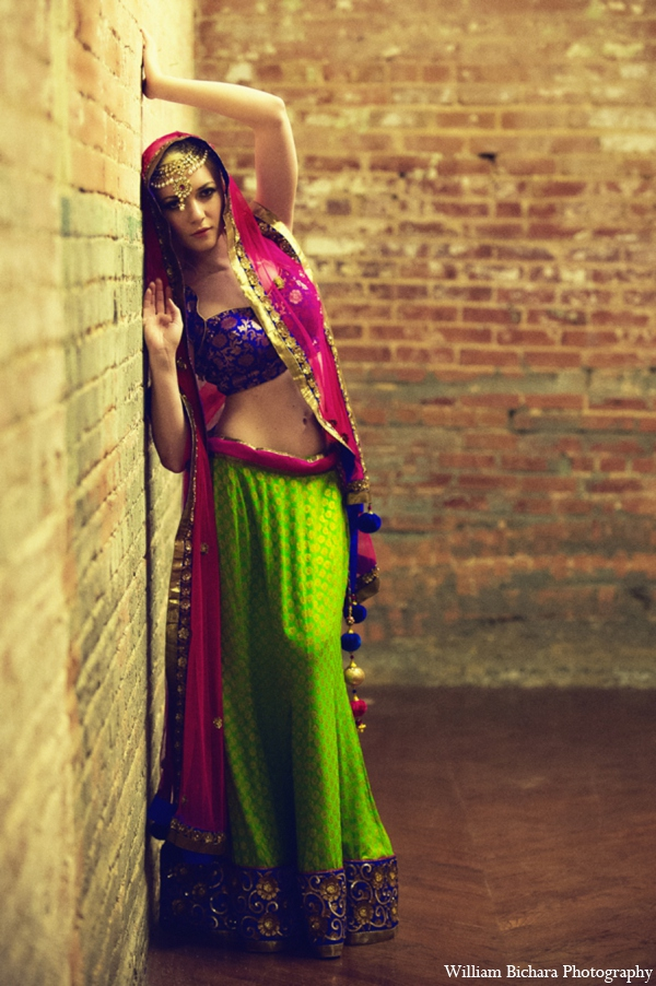 Indian wedding choli lengha in Red Paisleys Bridal Fashions Inspiration
