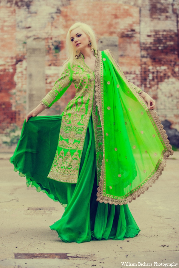 gold,lime green,yellow,bridal fashions,bridal jewelry,indian wedding dress,indian wedding dresses,indian wedding wear,wedding dresses indian,bridal sari,indian sari,wedding sari,Michael Bichara Photography