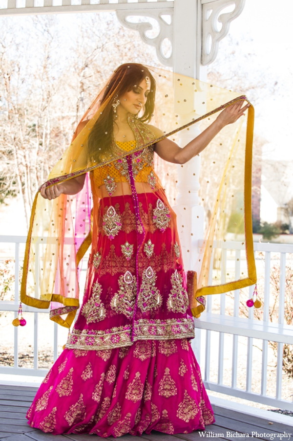 hot pink,yellow,silver,bridal fashions,bridal jewelry,Hair & Makeup,indian wedding clothing,indian wedding outfits,indian wedding outfits for brides,indian wedding clothes,indian bridal clothing,indian bridal clothes,indian bride clothes,Michael Bichara Photography