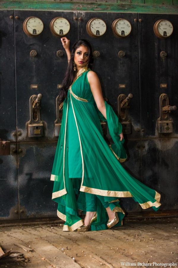 Indian wedding sari in Red Paisleys Bridal Fashions Inspiration