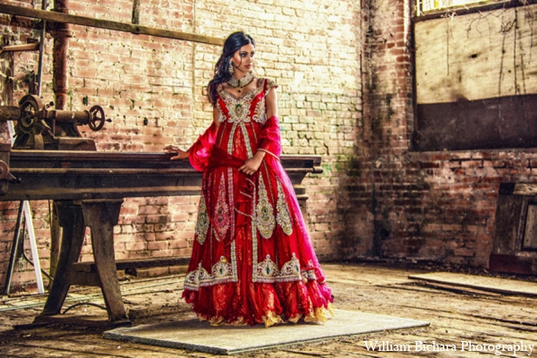 Indian wedding tradtiional fashion in Red Paisleys Bridal Fashions Inspiration