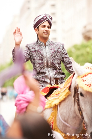 Indian wedding baraat groom horse