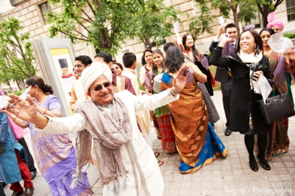 Indian wedding baraat guests party