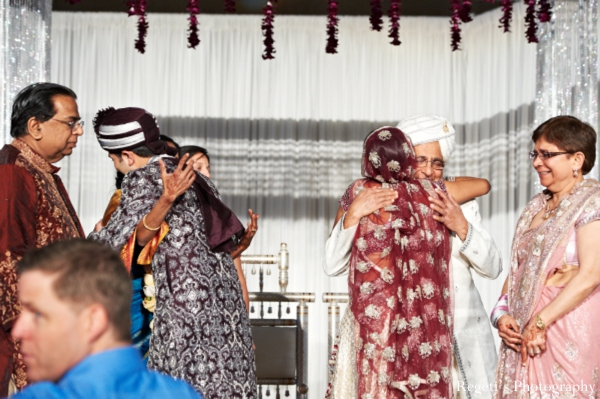 Indian wedding ceremony bride groom family