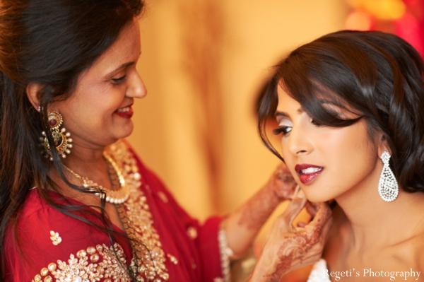 Indian wedding getting ready reception bride traditional