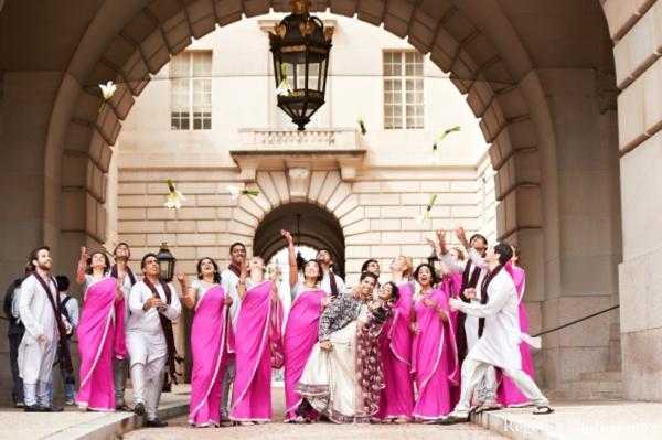 Indian wedding portrait bride groom wedding party ideas