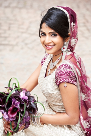 Indian wedding portrait bride lengha