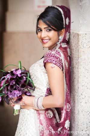 Indian wedding portrait bride