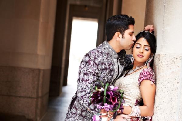Indian wedding portrait groom bride