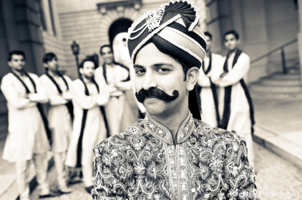 Indian wedding portrait groom groomsmen ideas