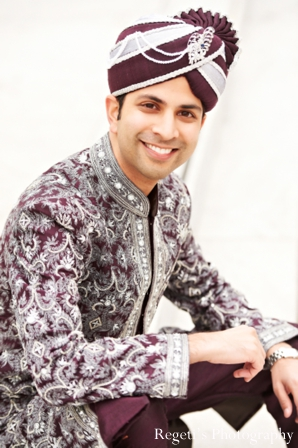 Indian wedding portrait groom traditional
