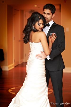 Indian wedding portrait reception bride groom