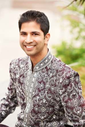 Indian wedding portrait traditional groom