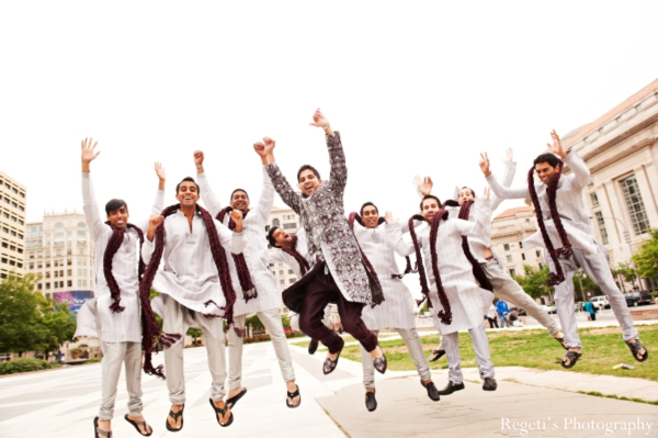 Indian wedding portrait traditional groomsmen groom inspiration