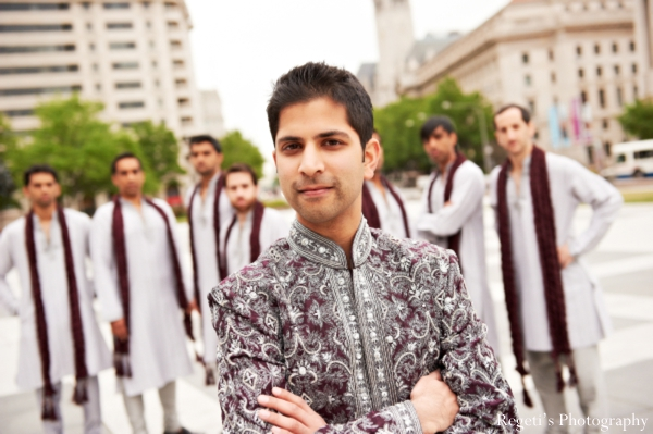 Indian wedding portrait traditional inspiration groomsmen groom