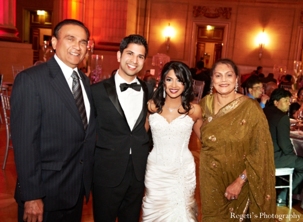 Indian wedding reception bride groom parents