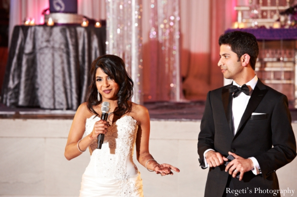 Indian wedding reception bride speech groom