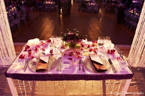Indian wedding reception decor inspiration setting