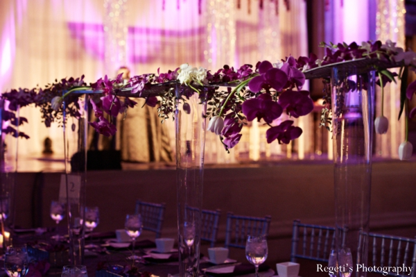 Indian wedding reception floral inspiration